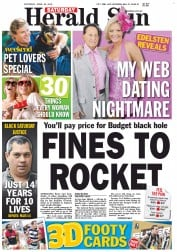Herald Sun (Australia) Newspaper Front Page for 28 April 2012