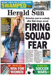 Herald Sun (Australia) Newspaper Front Page for 2 March 2012