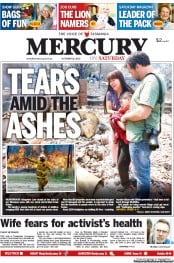 Hobart Mercury (Australia) Newspaper Front Page for 19 October 2013