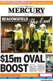 Hobart Mercury Newspaper Front Page (Australia) for 30 June 2012