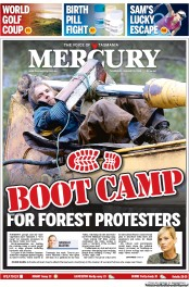 Hobart Mercury (Australia) Newspaper Front Page for 9 January 2014
