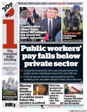 I Newspaper (UK) Newspaper Front Page for 11 March 2014