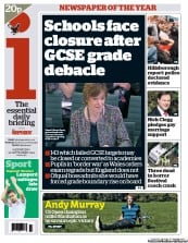 I Newspaper Newspaper Front Page (UK) for 12 September 2012