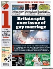 I Newspaper Newspaper Front Page (UK) for 13 June 2012
