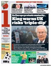 I Newspaper () Newspaper Front Page for 15 November 2012