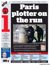 I Newspaper (UK) Newspaper Front Page for 16 November 2015