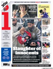 I Newspaper (UK) Newspaper Front Page for 17 December 2014