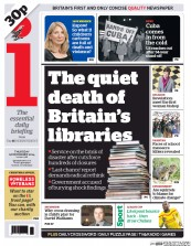 I Newspaper (UK) Newspaper Front Page for 18 December 2014