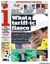 I Newspaper Newspaper Front Page (UK) for 19 October 2012