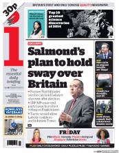 I Newspaper (UK) Newspaper Front Page for 19 December 2014