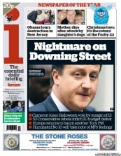 I Newspaper Newspaper Front Page (UK) for 1 November 2012