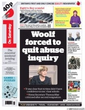 I Newspaper (UK) Newspaper Front Page for 1 November 2014