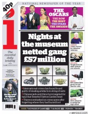 I Newspaper (UK) Newspaper Front Page for 1 March 2016