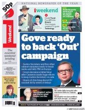 I Newspaper (UK) Newspaper Front Page for 20 February 2016
