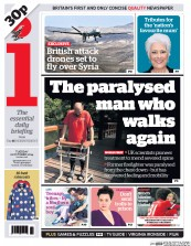 I Newspaper (UK) Newspaper Front Page for 21 October 2014