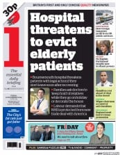 I Newspaper (UK) Newspaper Front Page for 21 November 2014