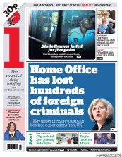 I Newspaper (UK) Newspaper Front Page for 22 October 2014