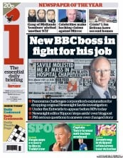 I Newspaper Newspaper Front Page (UK) for 23 October 2012