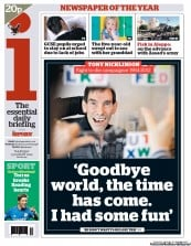 I Newspaper Newspaper Front Page (UK) for 23 August 2012