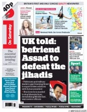 I Newspaper (UK) Newspaper Front Page for 23 August 2014
