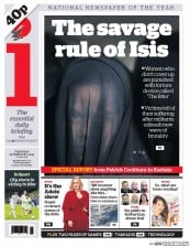 I Newspaper (UK) Newspaper Front Page for 25 February 2016