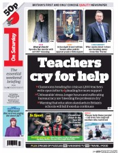 I Newspaper (UK) Newspaper Front Page for 25 April 2015