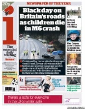 I Newspaper Newspaper Front Page (UK) for 26 December 2012