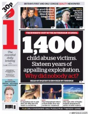 I Newspaper (UK) Newspaper Front Page for 27 August 2014