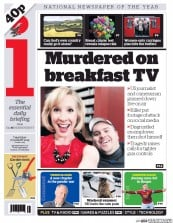 I Newspaper (UK) Newspaper Front Page for 27 August 2015