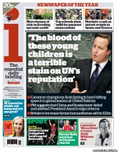 I Newspaper Newspaper Front Page (UK) for 27 September 2012
