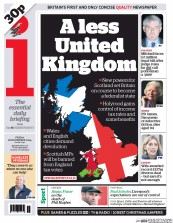 I Newspaper (UK) Newspaper Front Page for 28 November 2014