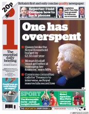 I Newspaper Newspaper Front Page (UK) for 28 January 2014