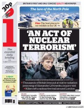 I Newspaper (UK) Newspaper Front Page for 28 January 2015