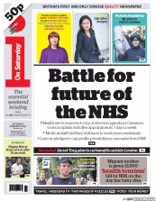 I Newspaper (UK) Newspaper Front Page for 28 March 2015