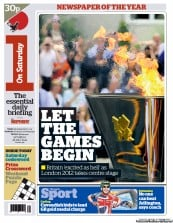 I Newspaper Newspaper Front Page (UK) for 28 July 2012