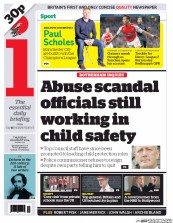 I Newspaper (UK) Newspaper Front Page for 28 August 2014