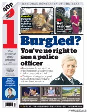 I Newspaper (UK) Newspaper Front Page for 29 July 2015