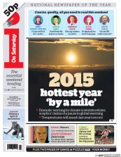 I Newspaper (UK) Newspaper Front Page for 29 August 2015