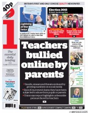 I Newspaper (UK) Newspaper Front Page for 2 April 2015