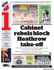I Newspaper (UK) Newspaper Front Page for 2 July 2015