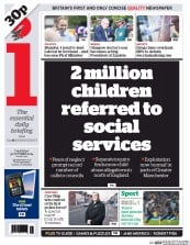 I Newspaper (UK) Newspaper Front Page for 30 October 2014