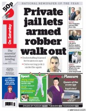 I Newspaper (UK) Newspaper Front Page for 30 May 2015