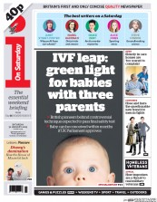 I Newspaper (UK) Newspaper Front Page for 31 January 2015