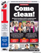 I Newspaper (UK) Newspaper Front Page for 31 March 2015