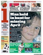I Newspaper Newspaper Front Page (UK) for 3 October 2012