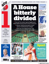 I Newspaper (UK) Newspaper Front Page for 3 July 2015