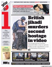 I Newspaper (UK) Newspaper Front Page for 3 September 2014