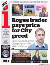 I Newspaper (UK) Newspaper Front Page for 4 August 2015