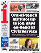 I Newspaper (UK) Newspaper Front Page for 5 March 2015