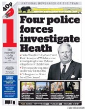 I Newspaper (UK) Newspaper Front Page for 5 August 2015